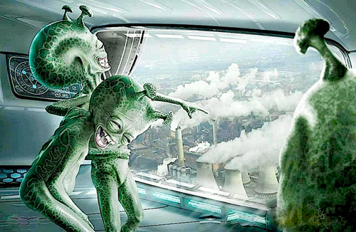 Lachende Aliens 1